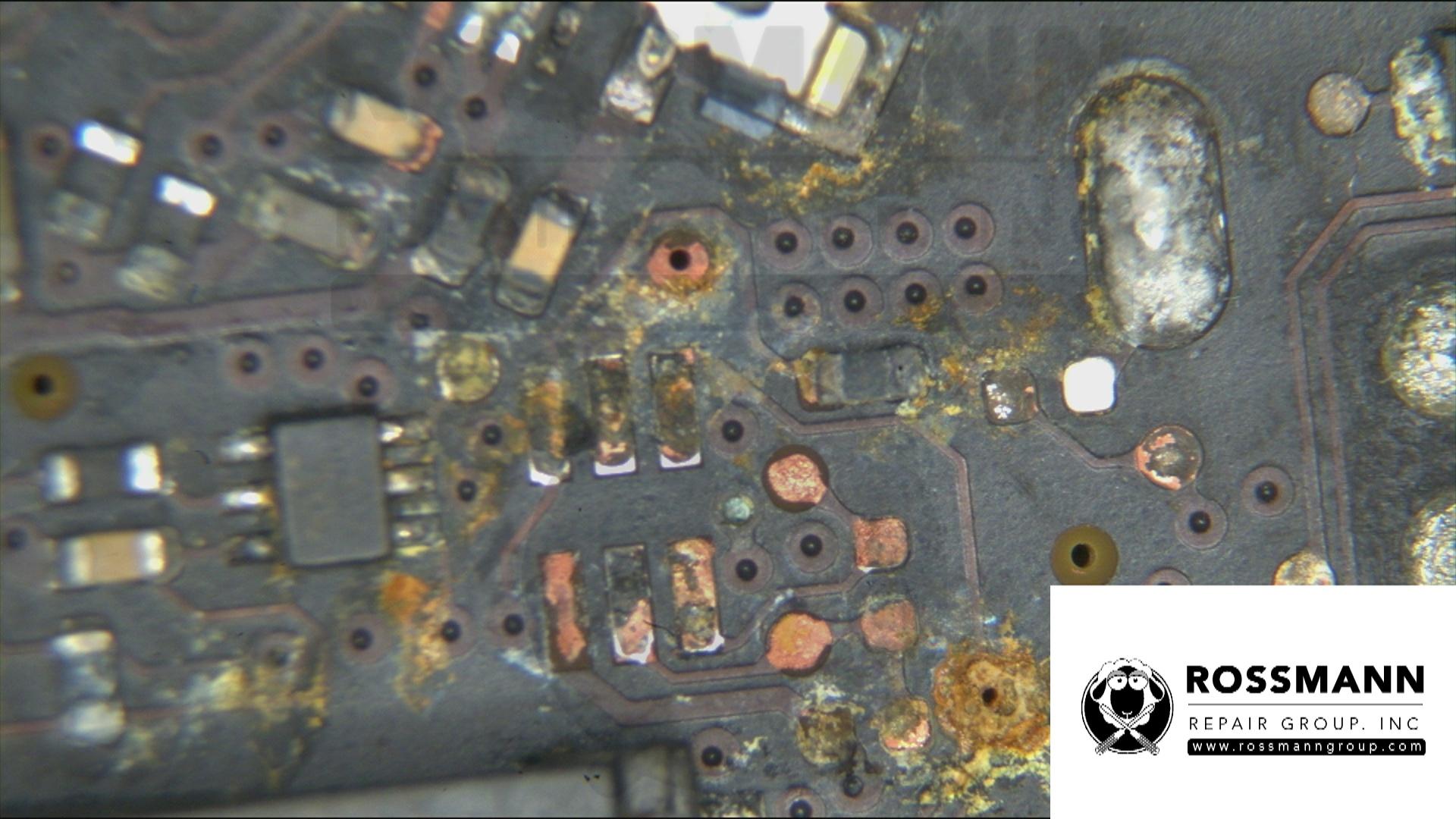 Water damaged Macbook logic board
