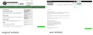 old site vs. new site comparison